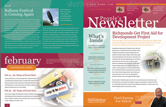 Sample corporate newsletters.